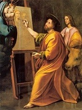 Saint Luke Painting the Madonna and Child in the Presence of Raphael