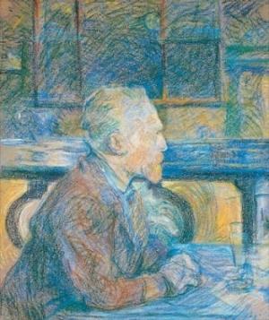 Vincent van Gogh portrait by Toulouse-Lautrec