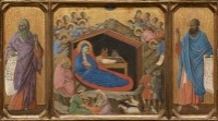 The Nativity with the Prophets Isaiah and Ezekiel, 1308/1311