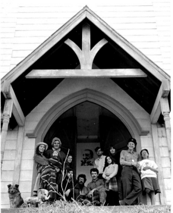 photograph: USCO and friends at the Church, Garnerville, New York,  April 1964