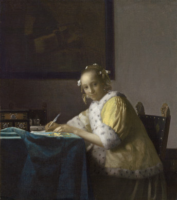Image: Johannes Vermeer, A Lady Writing, c. 1665, Gift of Harry Waldron Havemeyer and Horace Havemeyer, Jr., in memory of their father, Horace Havemeyer
