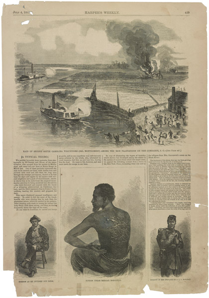 "Image: ""A Typical Negro,"" Harper's Weekly, July 4, 1863"