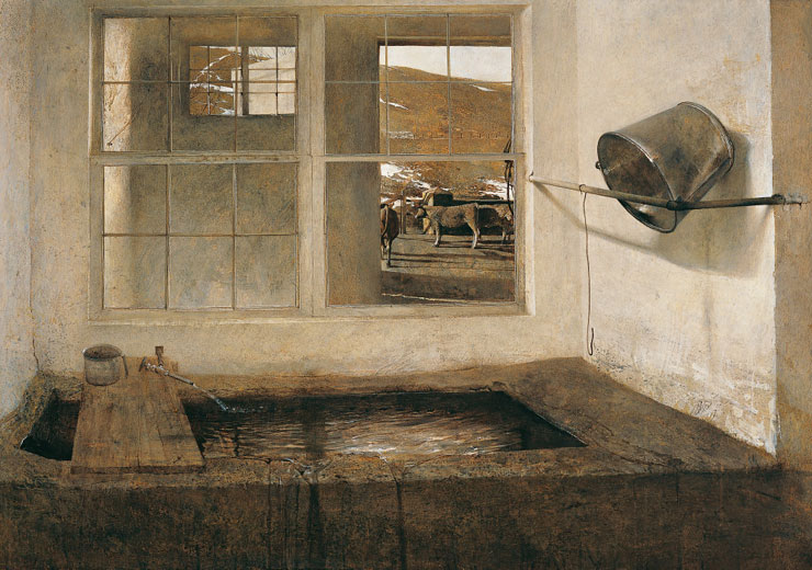 andrew wyeth looking out looking in