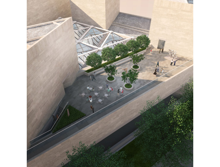 Rendering Showing An Aerial View Of The New Sculpture Terrace Of The East  Building. Image By Hartman Cox Architects. © 2013 National Gallery Of Art,  ...