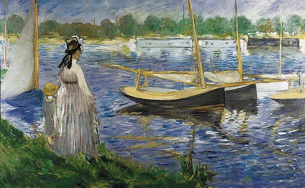 Impressionists at argenteuil for In their paintings the impressionists often focused on