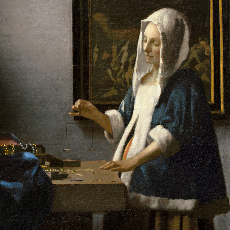 Johannes Vermeer's Woman Holding a Balance