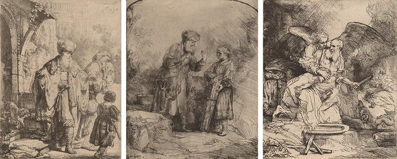 rembrandt van rijn abraham entertaining the angels