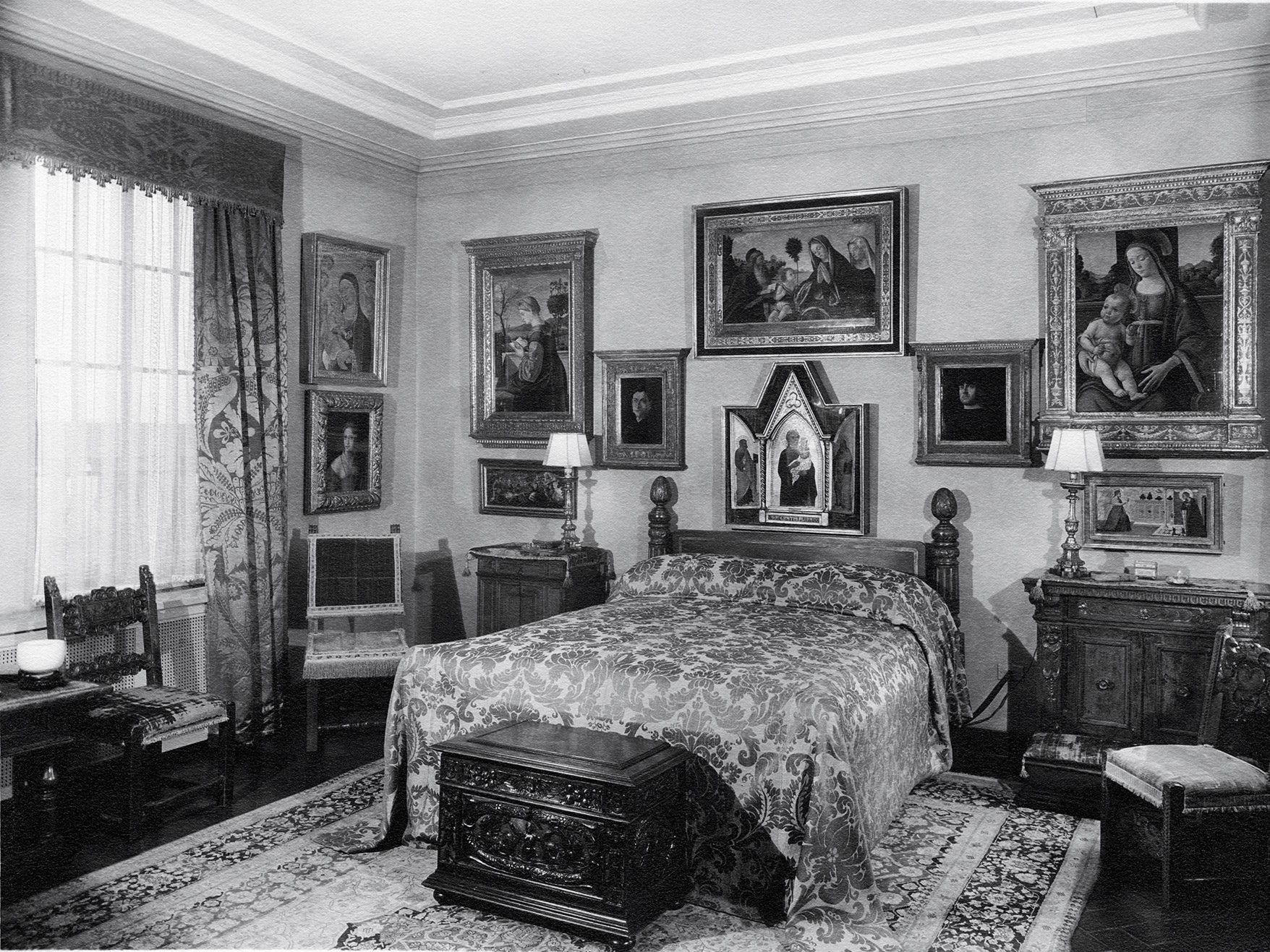 The Carpaccio Bedroom In Samuel Kress Apartment At 1020 Fifth Avenue New York 1938 1939 With Paintings Now National Gallery Of Art