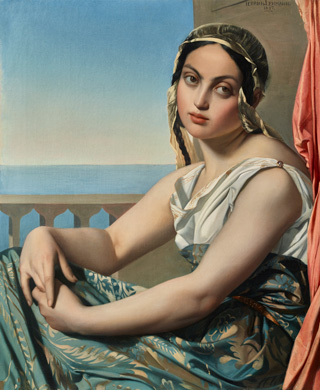 Henri Lehmann, 'Woman of the Orient', 1837, oil on canvas. National Gallery of Art, Washington, Chester Dale Fund