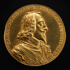 Nicolas Briot, The Juxon Sovereign/Dominion of the Seas Gold Medal of Charles I-obverse, 1639, gold