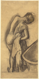 Edgar Degas, Apres le bain, femme s'essuyant, c. 1900, charcoal and pastel on tracing paper