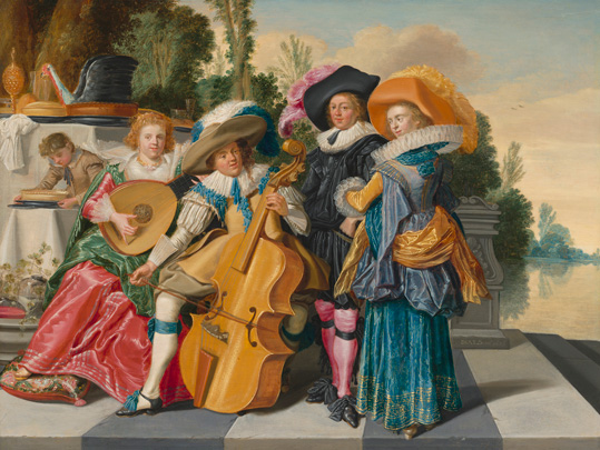 Dirck Hals, Merry Company on a Terrace, 1625, oil on panel, National Gallery of Art, Washington, The Lee and Juliet Folger Fund