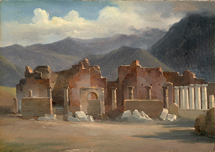 Achille-Etna Michallon, The Forum at Pompeii, 1819, oil on paper. National Gallery of Art, Washington