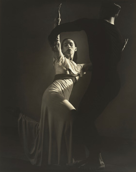 Barbara Morgan, American Document ('Puritan Love Duet' with Erick Hawkins), 1938, gelatin silver prin, National Gallery of Art, Washington, R. K. Mellon Family Foundation