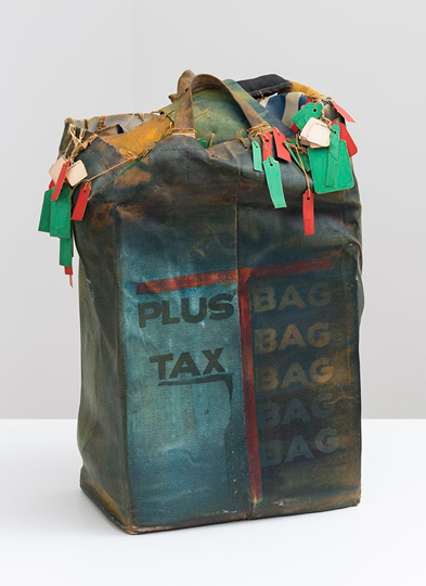 John Outterbridge, Plus Tax: Shopping Bag Society, Rag Man Series, 1971, mixed media, National Gallery of Art, Washington, Purchased with funds from The Ahmanson Foundation and Howard and Roberta Ahmanson