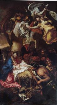 Giovanni Benedetto Castiglione, 'Adoration of the Shepherds', 1645, oil on canvas, Genova, Fondazione Spinola, Chiesa di San Luca, Copyright Scala / Art Resource, NY