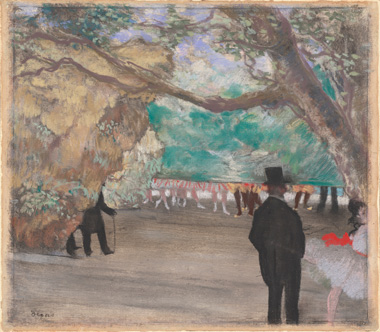Edgar Degas, 'The Curtain', c. 1880, pastel over charcoal and monotype on laid paper mounted on board. National Gallery of Art, Washington. Collection of Mr. and Mrs. Paul Mellon