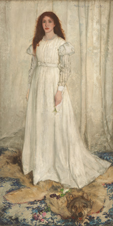 James McNeill Whistler, Symphony in White, No. 1: The White Girl, 1862, oil on canvas, National Gallery of Art, Washington, Harris Whittemore Collection