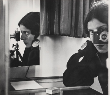 Ilse Bing, Self-Portrait with Leica, 1931, gelatin silver print, Michael Mattis and Judith Hochberg