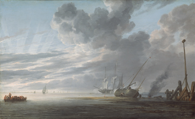Simon de Vlieger, Estuary at Day's End, c. 1640/1645, oil on panel, National Gallery of Art, Washington, Patrons' Permanent Fund and The Lee and Juliet Folger Fund in memory of Kathrine Dulin Folger