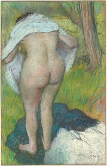 Edgar Degas, 'Young Woman Dressing Herself', 1885, pastel, National Gallery of Art, Washington, Gift of the W. Averell Harriman Foundation in memory of Marie N. Harriman