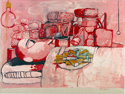 Philip Guston, 'Painting, Smoking, Eating', 1973, oil on canvas, Stedelijk Museum, Amsterdam, Copyright The Estate of Philip Guston