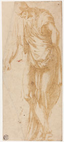 Alonso Berruguete, 'Study of Levi', c. 1526-1532, pen and brown ink, Art Institute of Chicago, The Leonora Hall Gurley Memorial Collection