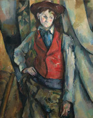 Paul Cézanne, 'Boy in a Red Waistcoat', 1888-1890, oil on canvas, National Gallery of Art, Washington, Collection of Mr. and Mrs. Paul Mellon, in Honor of the 50th Anniversary of the National Gallery of Art