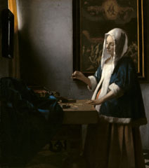 Johannes Vermeer, 'Woman Holding a Balance', c. 1664, oil on canvas, National Gallery of Art, Washington, Widener Collection