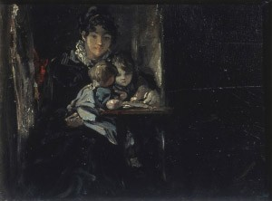 John Constable, Maria Constable with two of her Children, c. 1820. Tate, London / Art Resource, NY.