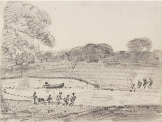 John Constable, Fishing with a Net on Lake Wivenhoe Park, 1888, V&A Images/Victoria and Albert Museum