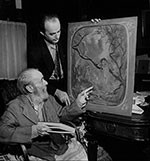 Louis Eilshemius (seated), 1939