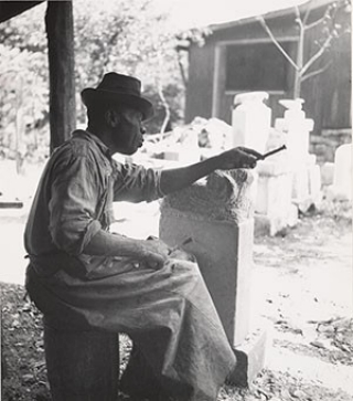 William Edmondson, Sculptor, by Edward Weston, 1941