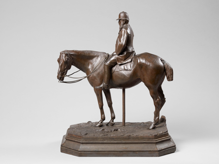equestrian portrait of M. Baude