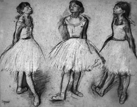 Three Studies of a Dancer in Fourth Position