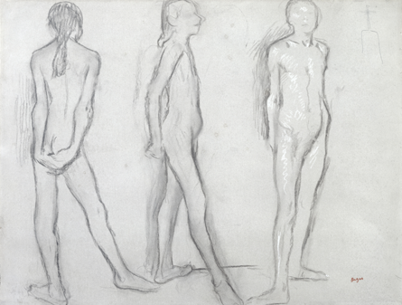 Three Studies of a Nude Dancer