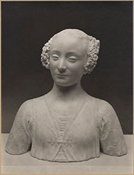 Photograph: Clarence Kennedy, Bust of a Young Woman by Andrea del Verrocchio, The Frick Collection, 1930