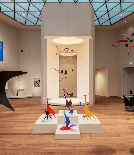 Works by Alexander Calder in Tower 2 of the East Building. Works of art © 2019 Calder Foundation, New York/Artists Rights Society (ARS), New York