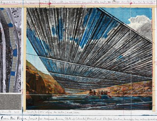 Christo, Over the River (Project for Arkansas River, State of Colorado), 2010, collage National Gallery of Art, Washington, Gift of the artist Photo by André Grossmann © Christo 2010