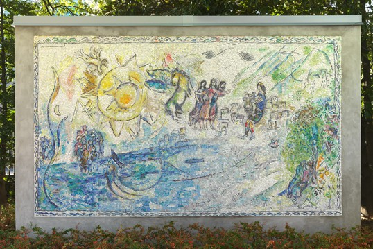 Marc Chagall, Russian, 1887 - 1985, 'Orphée', 1969. stone and glass mosaic. National Gallery of Art, Washington. The John U. and Evelyn S. Nef Collection