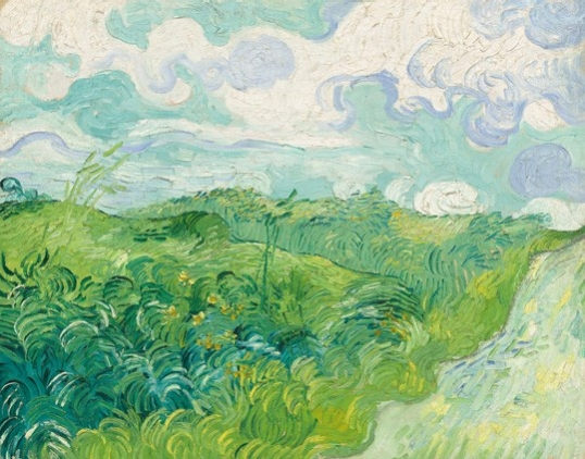 Vincent Van Gogh Field with Green Wheat, 1890 Oil on canvas 28 3Ž4 x 36 5/8 inches (73 x 93 cm)