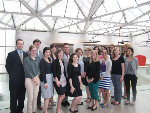 Front row, from left to right: Michelle Smiley, Victoria Gao, Allison Burness, Abby Eron, Sarah Battle, Anne Marie Gan, Samantha Fisher, Alessandra Nardi Back row, from left to right: David Ward, John Salmons, Christine Zappella, Cyle Metzger, Jennifer Rokoski, Megan Whitney, Valerie Lazalier, Christina Taylor, Jillian Vaum, Galina Olmsted