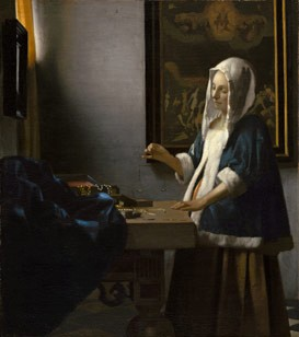 David Gariff discusses Johannes Vermeer's Woman Holding a Balance (c. 1664) in a lecture titled A Quiet Cult: The Continuing Allure of the Art of Vermeer on Saturday, August 16 and Sunday, August 17 at the National Gallery of Art. National Gallery of Art, Washington, Widener Collection