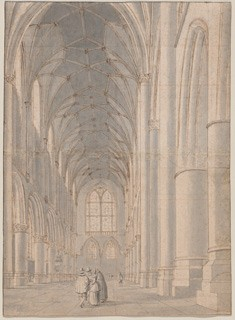 Pieter Jansz Saenredam Interior of Saint Bavo's Church, Haarlem, mid-1630s pen and brown ink with gray wash and touches of red chalk over graphite on laid paper, squared in red chalk; laid down National Gallery of Art, Washington Gift of Dian Woodner