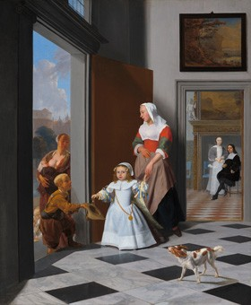 Jacob Ochtervelt A Nurse and a Child in the Foyer of an Elegant Townhouse, 1663 oil on canvas 32 x 26 1/4 in. (81.5 x 66.8 cm) National Gallery of Art, Washington The Lee and Juliet Folger Fund
