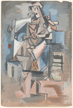 Arshile Gorky Untitled (Cubist Figure), c. 1930 gouache and collage on board 76 x 50.9 cm (30 x 20 in.) National Gallery of Art, Washington Ruth and Jacob Kainen Memorial Fund