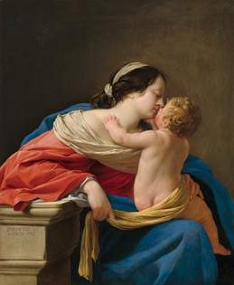 Simon Vouet Madonna and Child, 1633 Oil on canvas 109 x 89 cm (43 x 35 inches) National Gallery of Art, Washington Chester Dale Fund