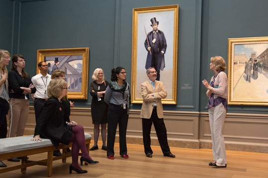 CASVA members' tour of Gustave Caillebotte: The Painter's Eye organized by Mary Morton, curator and head of the department of French paintings, at the National Gallery of Art.