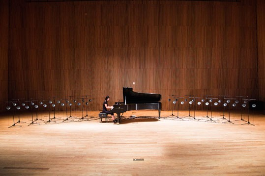 Pianist Vicki Chow will perform Tristan Perich's Surface Image on September 30, 12:30 p.m., West Garden Court to celebrate the reopening of East Building galleries.