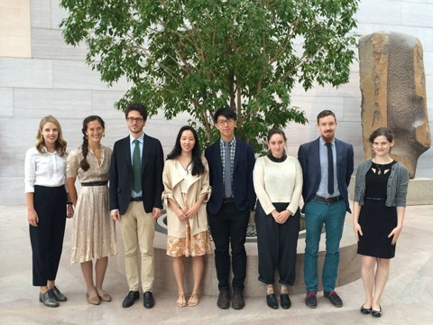 From Left to Right: Danielle Siemens, Kathryn Harada, Vincenzo Sorrentino, Sarah Molina, John Wang, Julia Silverman, John A. Tyson, and Abby Eron. Missing from photo: Jamie Gabbarelli and Victoria de Gracia Gonzalez